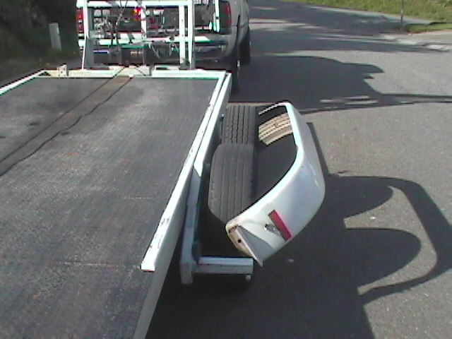 car trailer  with fender folded out