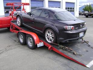 towing training unloading car