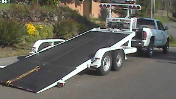 custom built car trailer