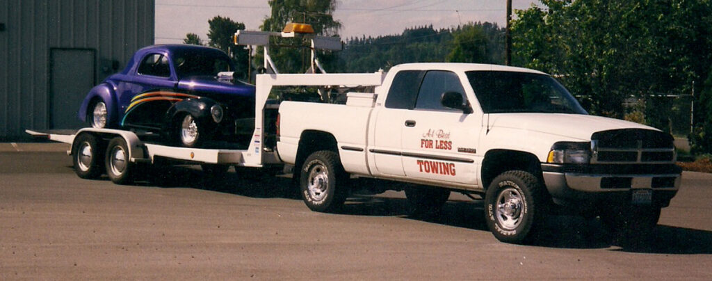 my towing business transporting willy's coupe