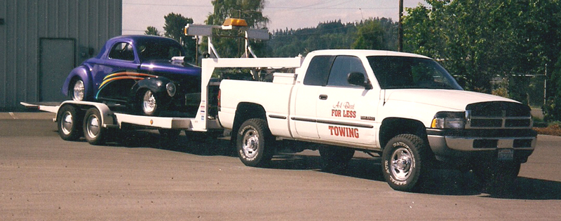 Dodge ram towing Willy's Coupe
